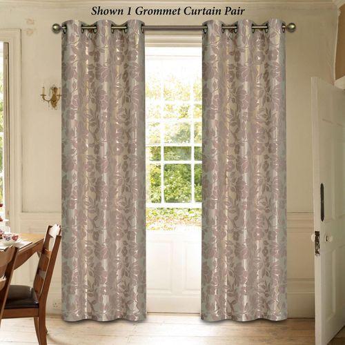 Duchess Grommet Curtain Pair Dusty Mauve