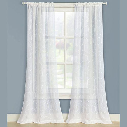 Rhett Semi Sheer Curtain Pair 80 x 84
