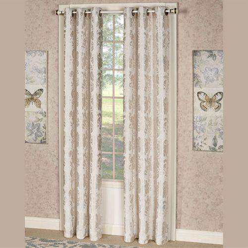 Renee Grommet Curtain Pair Ecru 76 x 84