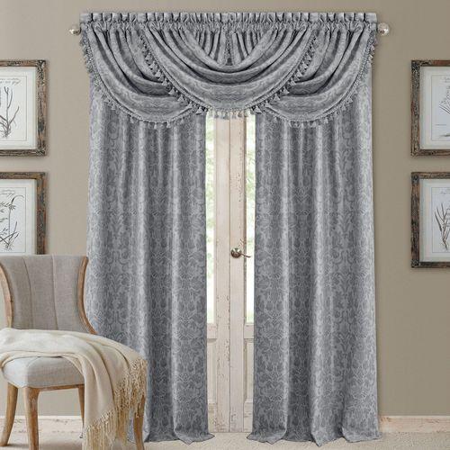 Scarlet Back Tab Curtain Panel