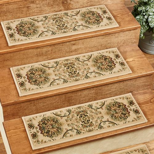 Lisbon Wheat Indoor Carpet Stair Tread Set of 5 with Tacks