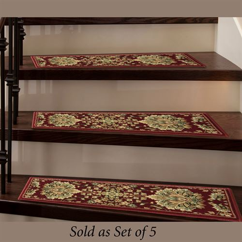 Lisbon Stair Treads Scarlet Set of Five