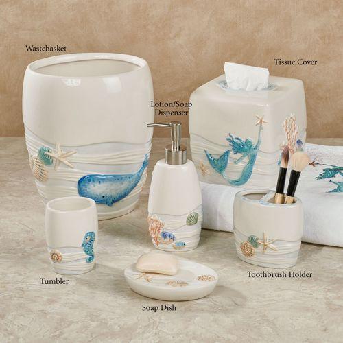Sea Splash Lotion Soap Dispenser Ivory
