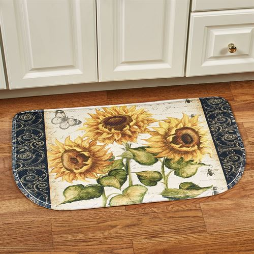 French Sunflower Cushioned Slice Mat Multi Bright 30 x 18