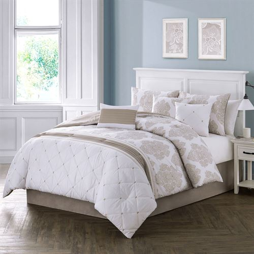 Calica Comforter Bed Set White