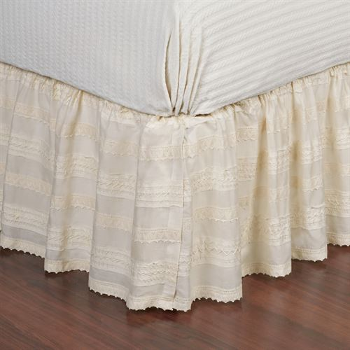Jasmine Bedskirt Tlrd Light Cream