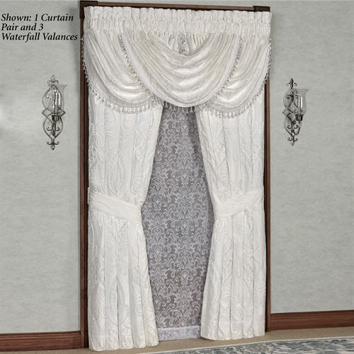 Bianco Wide Tailored Curtain Pair White 100 x 84