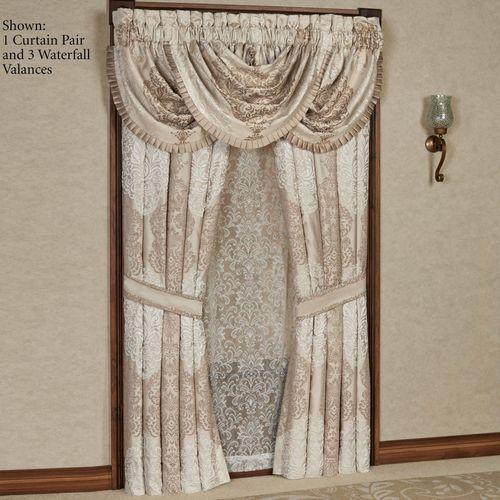 La Scala Tailored Curtain Pair Fawn 96 x 84
