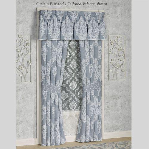 Ansonia Tailored Curtain Pair Denim 82 x 84