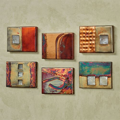 Copper Studio Wall Art Plaque Set