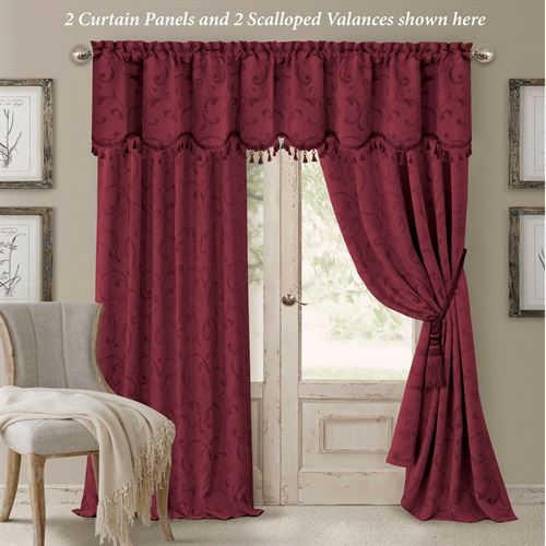 Mina Tailored Curtain Panel Cordovan