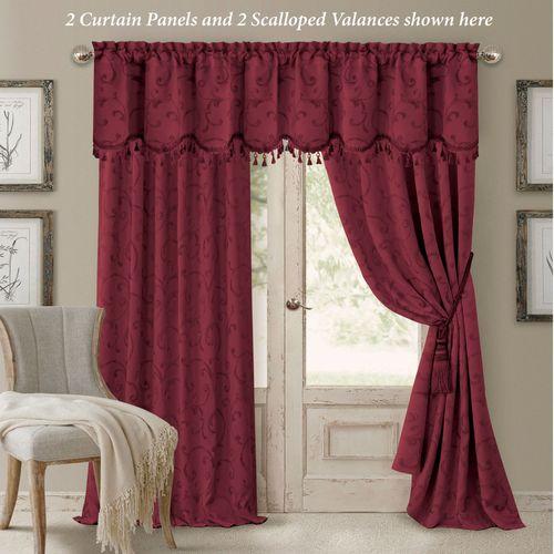 Mina Tailored Curtain Panel Cordovan