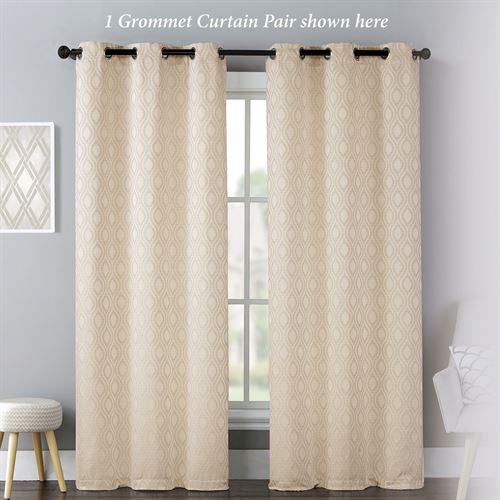 Mulberry Grommet Curtain Pair Cream