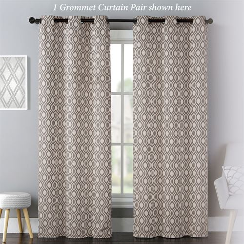 Mulberry Grommet Curtain Pair Taupe