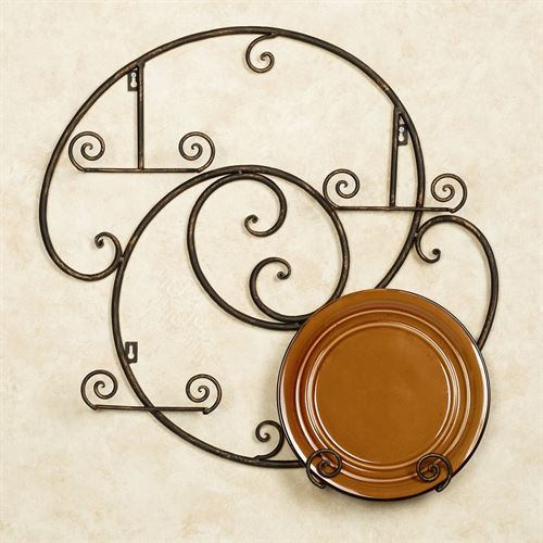 Laylla Plate Rack Antique Bronze Four Plate