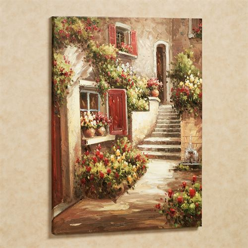 Tuscan Flowers Canvas Art