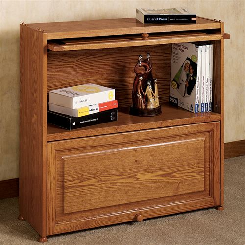 Ayden Barrister Bookcase with Wood Doors