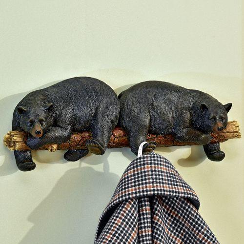 Black Bear Wall Hook Rack
