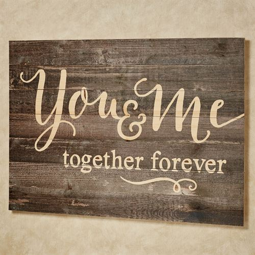 You and Me Wall Plaque Brown