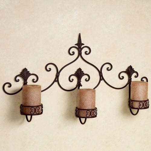 Farina Wall Candleholder Rust Brown