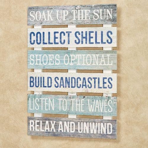 Soak Up the Sun Wall Plaque Multi Cool