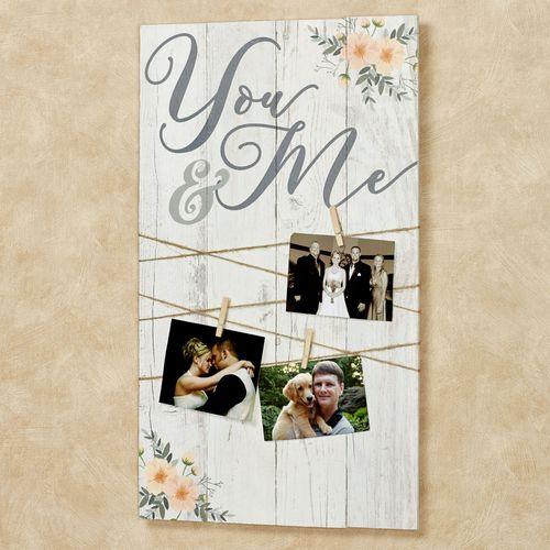 You and Me Wall Photo Board Multi Warm