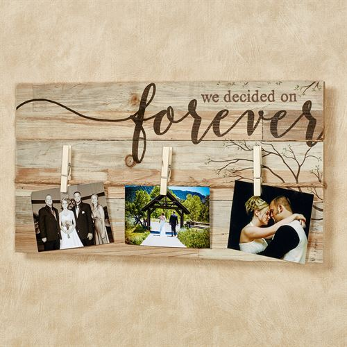 We Decided on Forever Wall Photo Board Brown