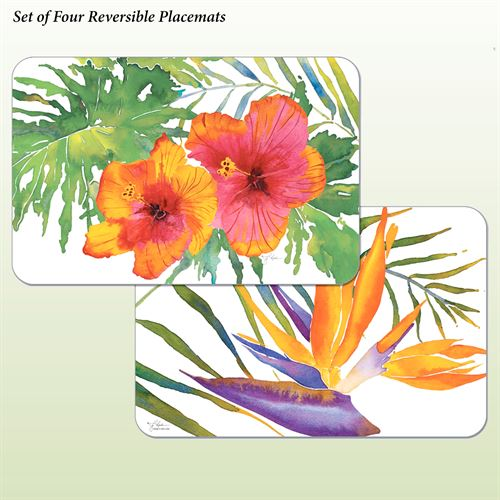 Tropical Paradise Placemats Multi Bright Set of Four