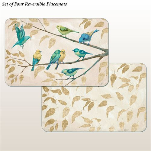 Fly Away Placemats Multi Earth Set of Four