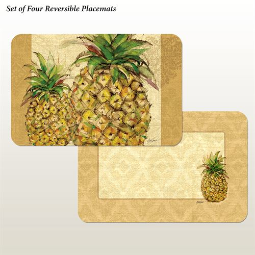 Pineapples Placemats Multi Earth Set of Four