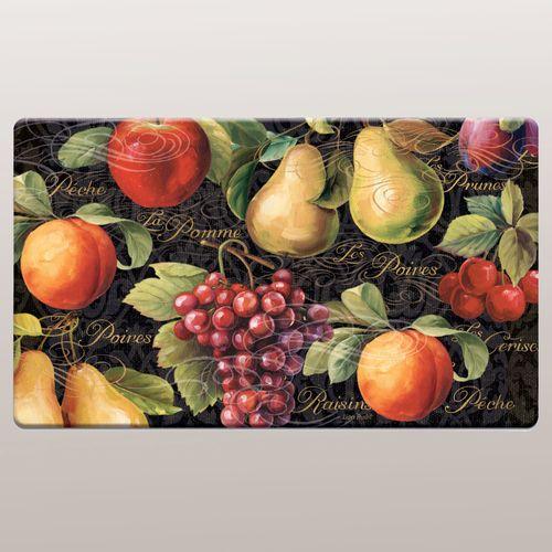 Fruits du Marche Cushioned Floor Mat Multi Warm 30 x 20