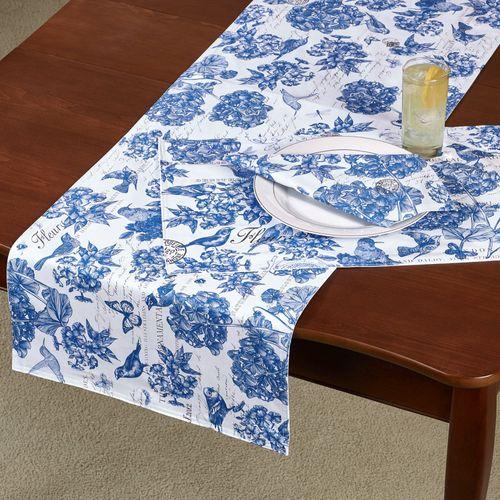 Indigo Cotton Table Runner Blue 16.5 x 60