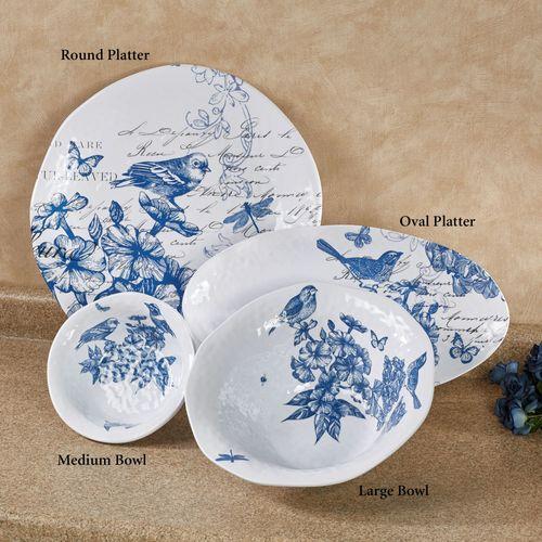 Indigo Cotton Melamine Medium Bowl Blue