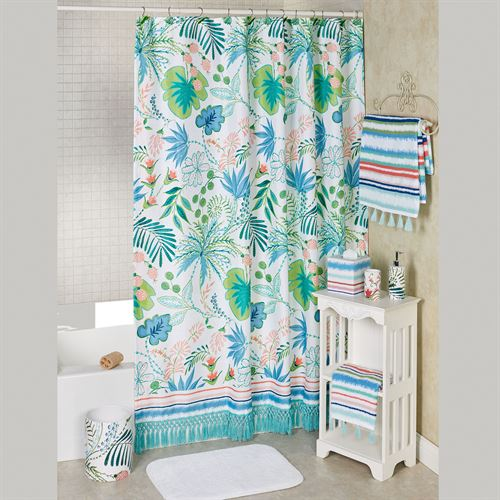 Tropical Shower Curtain Multi Bright 72 X