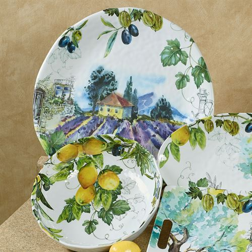 Campagna Oval Serving Platter Multi Cool 19 x 10