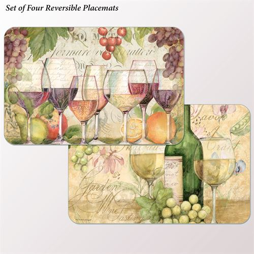 Wine Country Placemats Multi Warm Set of Four