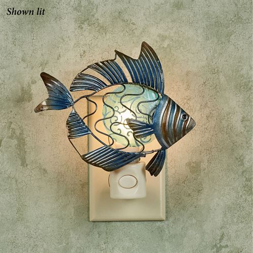 Finn Fish Nightlight Indigo
