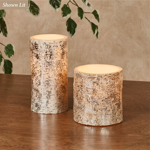 Birch LED Candles Vanilla Set of Two