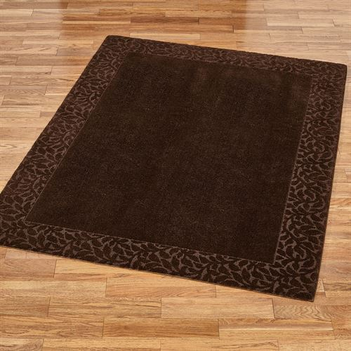 Manchester Leaf Soft Nylon Area Rugs