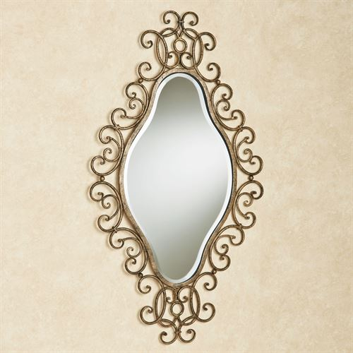 Diamond Shaped Wall Mirror Antique Gold