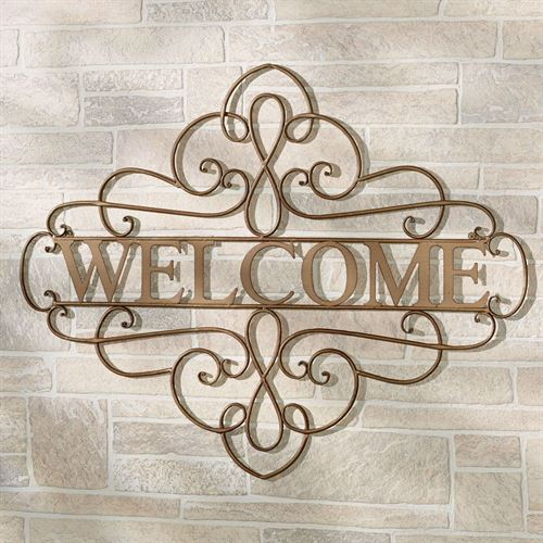 Maribelle Welcome Wall Grille Satin Gold