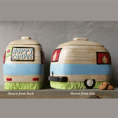 Happy Camper Cookie Jar Multi Pastel