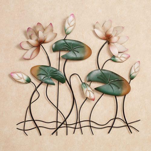 Lotus Lake Blossoms Wall Art Pink