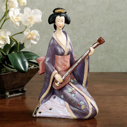 Geisha Serenade Figurine Purple