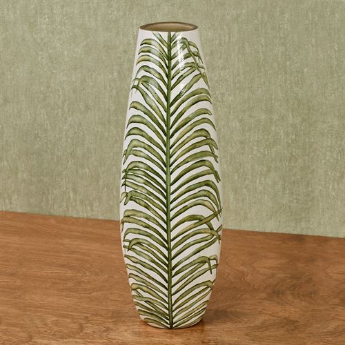 Palm Frond Table Vase Green