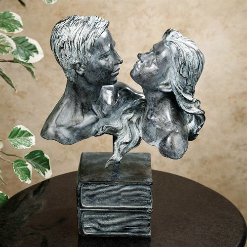 Love Stories Table Sculpture Gray