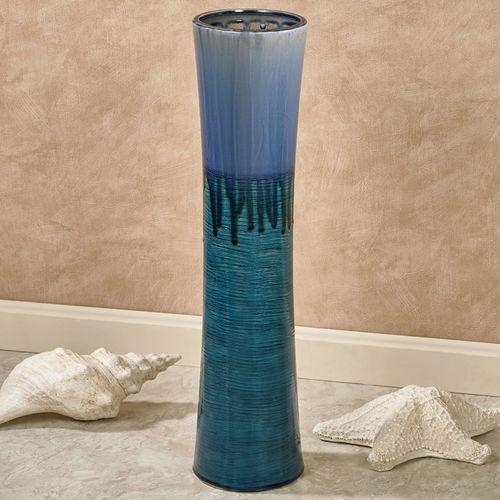 Tranquil Waters Floor Vase Blue