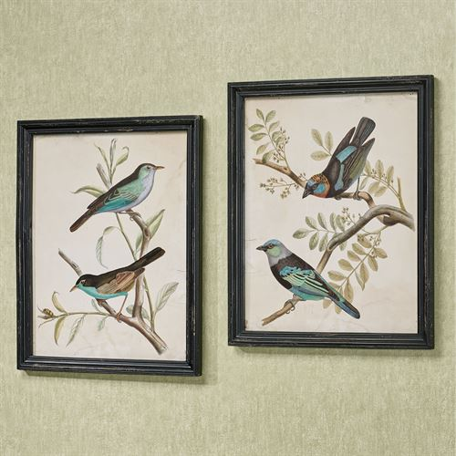 Chirping Melody Framed Wall Art Black Set of Two