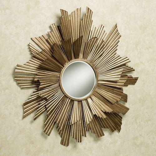 Arlette Mirrored Wall Art Gold