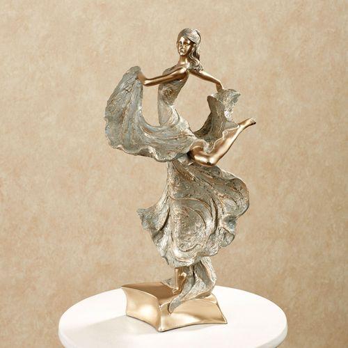 Elegant Motions Figurine Tarnished Gold